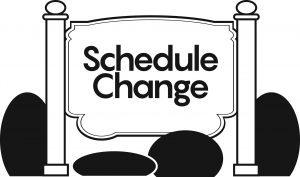 Schedule Changes to Confession & Communion Line