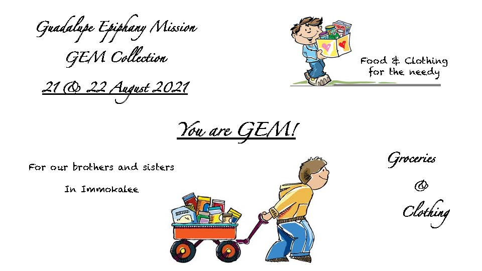 GEM collection Aug 21-22